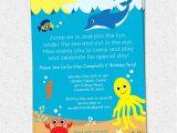Under the Sea Birthday Invitation Template Free Under the Sea Birthday Party Invitation Printable Boy or