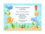 Under the Sea Birthday Invitation Template Free Under the Sea Birthday Party Invitation Zazzle