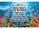 Under the Sea Birthday Invitation Template Free Under the Sea Birthday Party Invitations Free Invitation