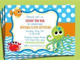 Under the Sea Birthday Invitation Template Free Under the Sea Invitation Printable or Printed with Free