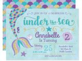 Under the Sea Party Invitation Template Mermaid Invitation Under the Sea Invite Zazzle Com