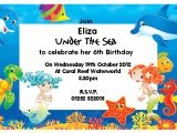 Under the Sea Party Invitation Template Under the Sea Birthday Invitations Wording Free