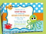 Under the Sea Party Invitation Template Under the Sea Invitation Printable or Printed with Free