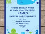 Under the Sea Party Invitation Template Under the Sea Party Invitations Birthday Party