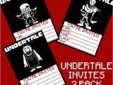 Undertale Birthday Invitations Undertale Birthday Invitations 3 Pack Digital Download 5×7
