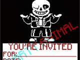 Undertale Birthday Invitations Undertale Birthday Invitations Sans Digital Download 5×7