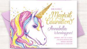 Unicorn Birthday Invites Free Unicorn Invitation Unicorn Birthday Invitation Unicorn Party
