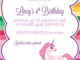 Unicorn Birthday Party Invitations Free Template 9 Best Of Free Printable Unicorn Invitations