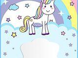 Unicorn Birthday Party Invitations Free Template Unicorn Free Printable First Birthday Invitation Template