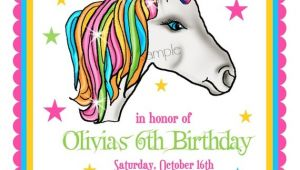 Unicorn Party Invitation Wording Unicorn Invitations Unicorn Birthday Party Invitations