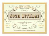Unique 50th Birthday Invitation Ideas Unique Vintage 50th Birthday Invitations
