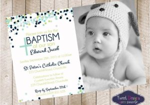 Unique Baptismal Invitation for Baby Boy Baptism Invitation Boy Baptism Invitations Baptism