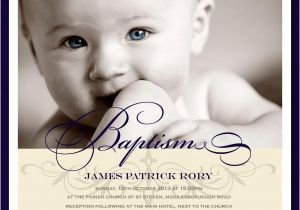 "Unique Baptismal Invitation for Baby Boy Christening Invitations 6"" Flat Square Baptism or"