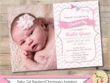 Unique Baptismal Invitation for Baby Girl Girl Baptism Invitation Christening Invite Personalized