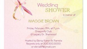 Unique Bridal Shower Invites Dragonfly theme Unique Bridal Shower Invitations 5 25