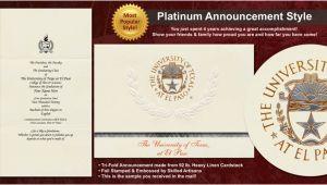 Utep Graduation Invitations University Of Texas at El Paso Graduation Announcements