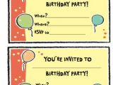 Ve Day Party Invitation Template Free Birthday Party Invitation Templates Word Pdf