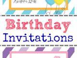 Ve Day Party Invitation Template Free Printable Birthday Invitation Templates