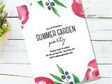 Vegetable Party Invitation Template 17 Garden Party Invitation Designs Templates Psd Ai
