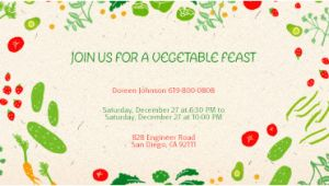 Vegetable Party Invitation Template Free Potluck Invitations Evite