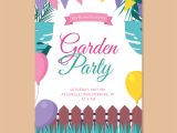 Vegetable Party Invitation Template Garden Party Invitation Download Free Vector Art Stock