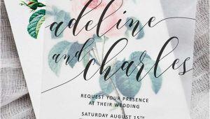 Vellum Wedding Invitation Template Vellum Wedding Invitations Wedding Stationery Trend