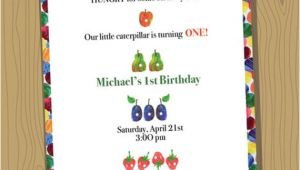 Very Hungry Caterpillar Birthday Invitation Template Items Similar to Very Hungry Caterpillar Custom Birthday