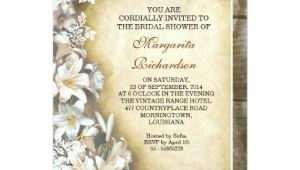 Victorian Bridal Shower Invitations Elegant Victorian Lilies Bridal Shower Invitations