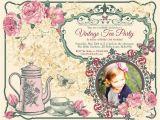 Victorian Tea Party Invitation Template 9 Vintage Invitation Templates Psd Eps Ai Free