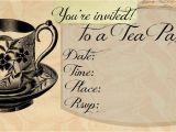 Victorian Tea Party Invitation Template Pin On Tea Time