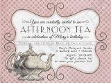 Victorian Tea Party Invitation Template Printable Tea Party Birthday Shower Invitation 4 25 X 5