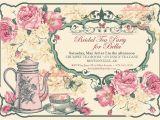 Victorian Tea Party Invitation Template Tea Party Invitation Bridal Tea Party Garden Tea Party