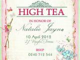 Victorian Tea Party Invitation Template Victorian High Tea Party Invitations Surprise Party