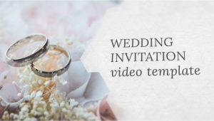 Video Wedding Invitation Template Wedding Invitation Video Template Editable Youtube