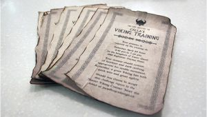 Viking Party Invitations Viking Training I Distressed Birthday Invitation