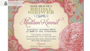 Vintage Bridal Shower Invitations Etsy Bridal Shower Invitations Etsy Template
