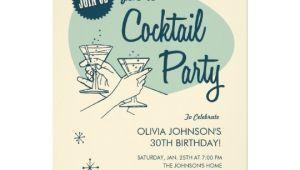 Vintage Cocktail Party Invitations Retro Cocktail Party Invitations Zazzle Com