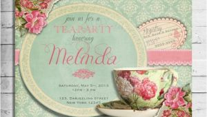 Vintage Tea Party Invitations Free Free Vintage Tea Party Invitation
