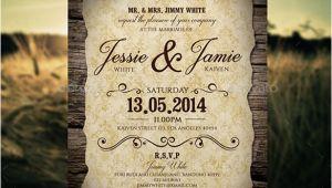 Vintage Wedding Invitation Template Free 23 Vintage Wedding Invitation Free Psd format Download