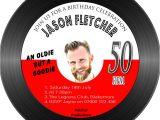 Vinyl Record Party Invitation Men 39 S Birthday Party Invitations Vinyl Record Shaped