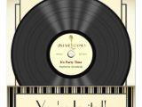 Vinyl Record Party Invitation Vintage Microphone Vinyl Record Party Invitations Zazzle