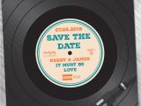 Vinyl Record Party Invitation Vinyl Record Wedding Invites Save the Dates Wedfest
