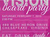 Vision Board Party Invitation Template Vision Board Party Invitation by Auroragraphicstudio On