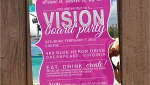 Vision Board Party Invitation Template Vision Board Party Invitation
