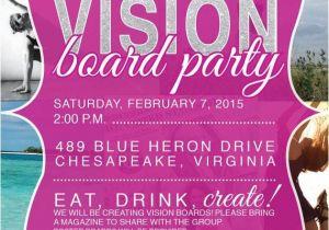 Vision Board Party Invitation Wording Vision Board Party Invitation events Resolutions and