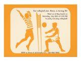 Volleyball Party Invitation Template Beach Volleyball Invitation Zazzle Com