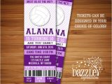 Volleyball Party Invitation Template Printable Volleyball Ticket Birthday Invitation Sports
