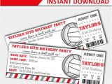 Volleyball Party Invitation Template Volleyball Invitation Volleyball Birthday Volleyball Party