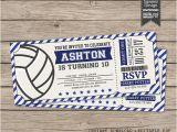 Volleyball Party Invitation Template Volleyball Invitations Volleyball Birthday Invitations