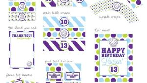 Volleyball Party Invitations Volleyball Party Printable Designs